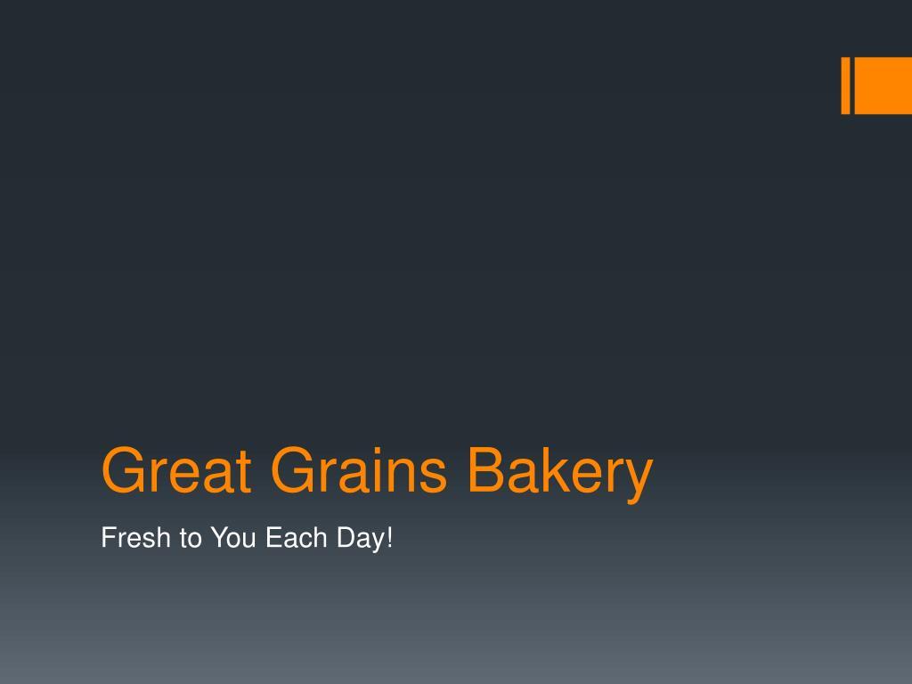 great grains bakery l.
