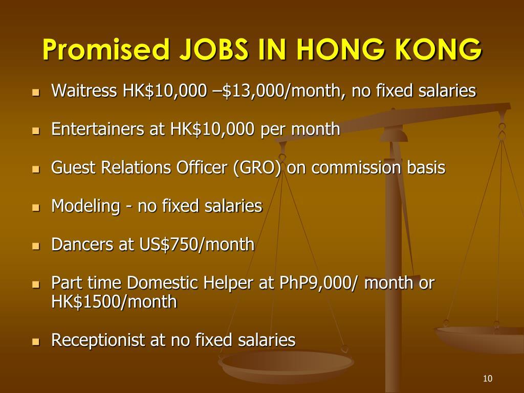 Promised JOBS IN HONG KONG