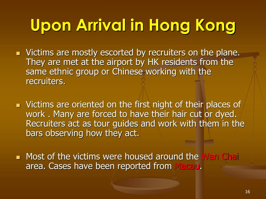 Upon Arrival in Hong Kong