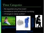 three categories