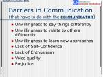 barriers in communication that have to do with the communicator