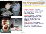 ppe for impact hazards