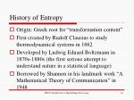 history of entropy