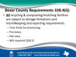 bexar county requirements 328 4 g
