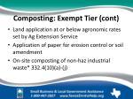 composting exempt tier cont