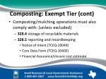 composting exempt tier cont2