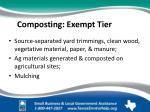 composting exempt tier