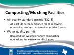 composting mulching facilities