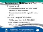 composting notification tier