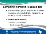composting permit required tier