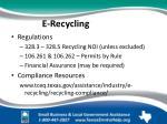 e recycling