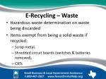 e recycling waste