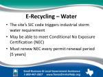 e recycling water