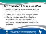 fire prevention suppression plan