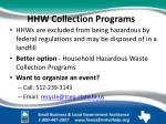 hhw collection programs