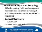 non source separated recycling