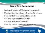 scrap tire generators