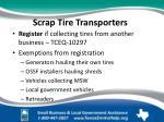 scrap tire transporters