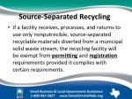 source separated recycling