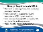 storage requirements 328 4