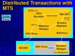 distributed transactions with mts