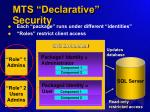 mts declarative security