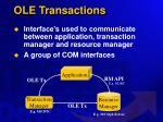 ole transactions