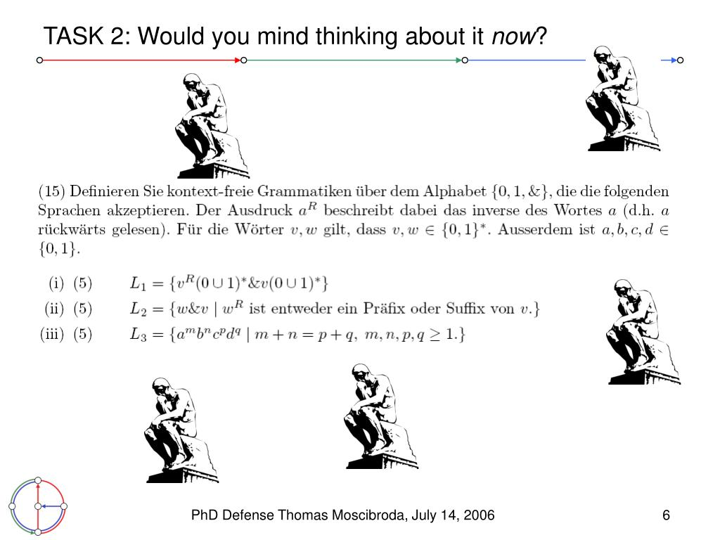 TASK 2: Would you mind thinking about it