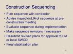 construction sequencing
