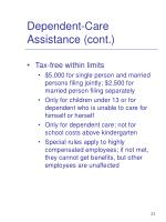 dependent care assistance cont