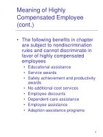 meaning of highly compensated employee cont