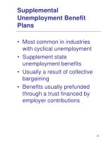 supplemental unemployment benefit plans