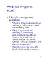 wellness programs cont