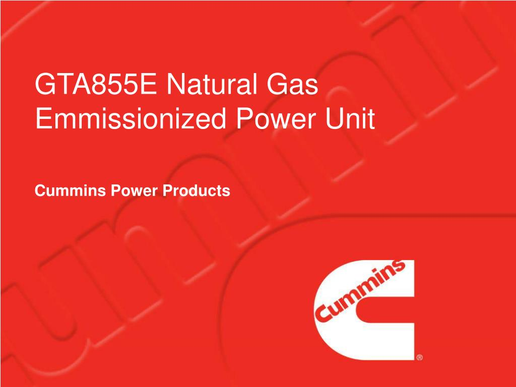 gta855e natural gas emmissionized power unit l.