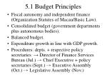 5 1 budget principles