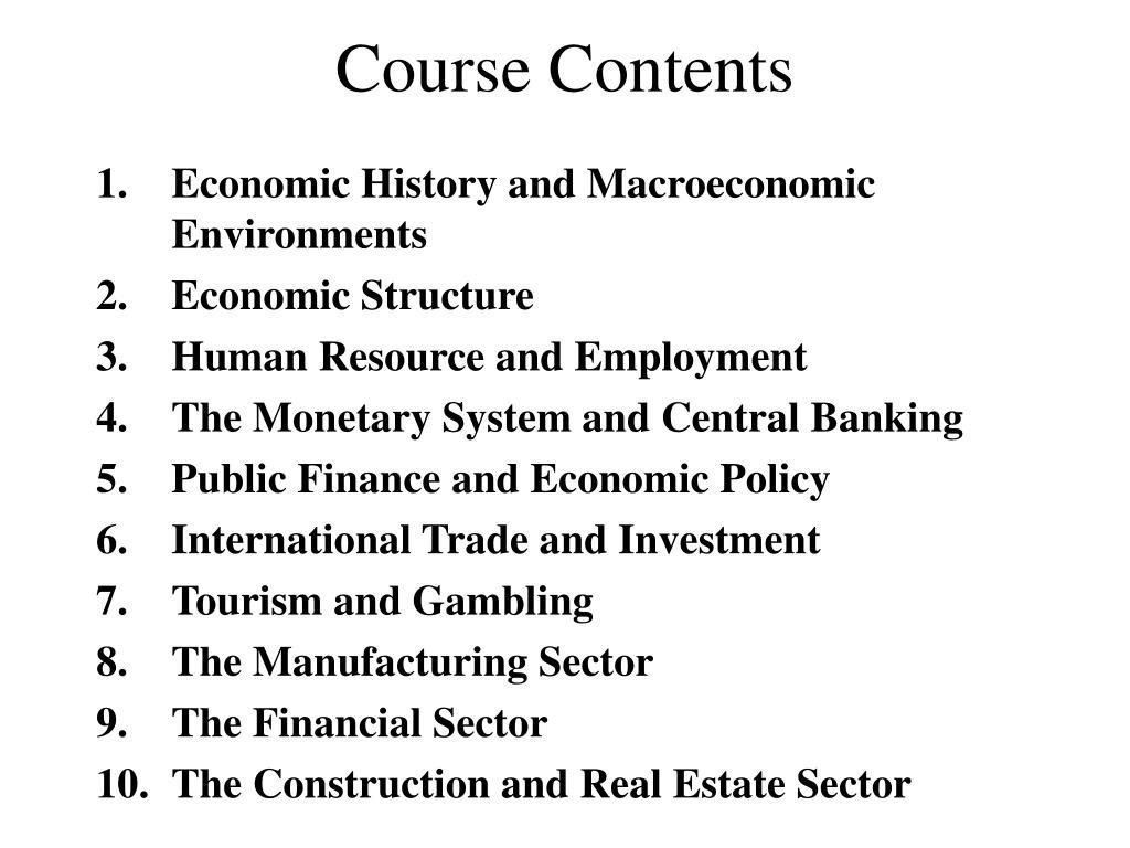 course contents l.