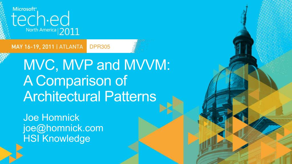mvc mvp and mvvm a comparison of architectural patterns l.