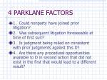 4 parklane factors