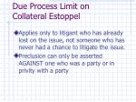 due process limit on collateral estoppel