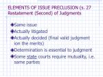 elements of issue preclusion s 27 restatement second of judgments