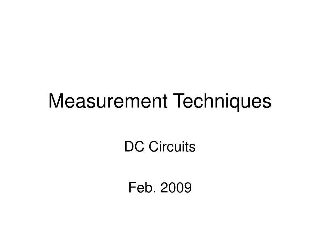 measurement techniques l.