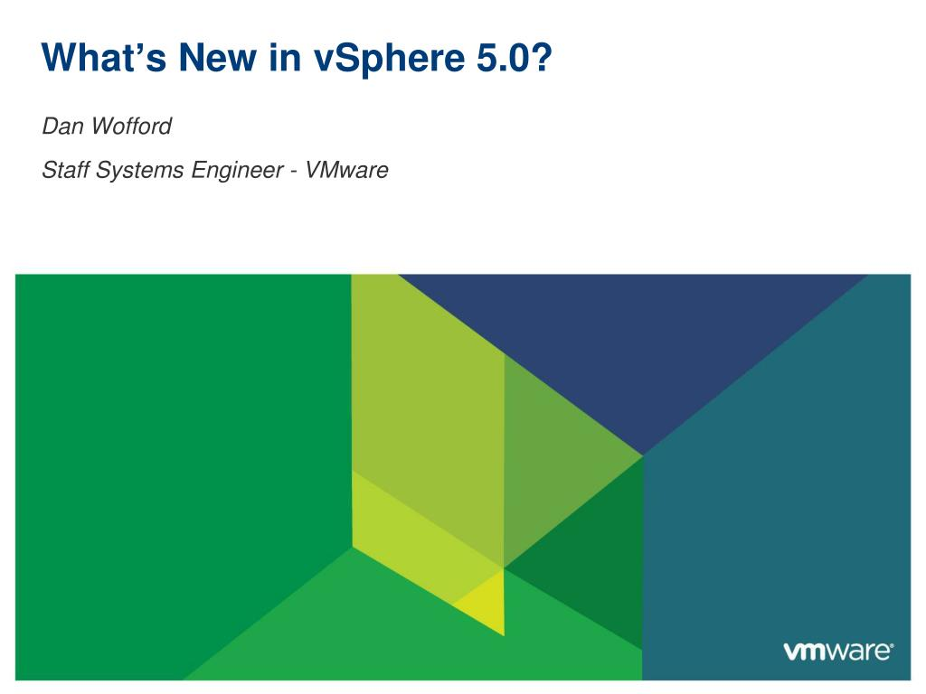 what s new in vsphere 5 0 l.