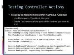 testing controller actions