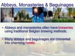 abbeys monasteries beguinages
