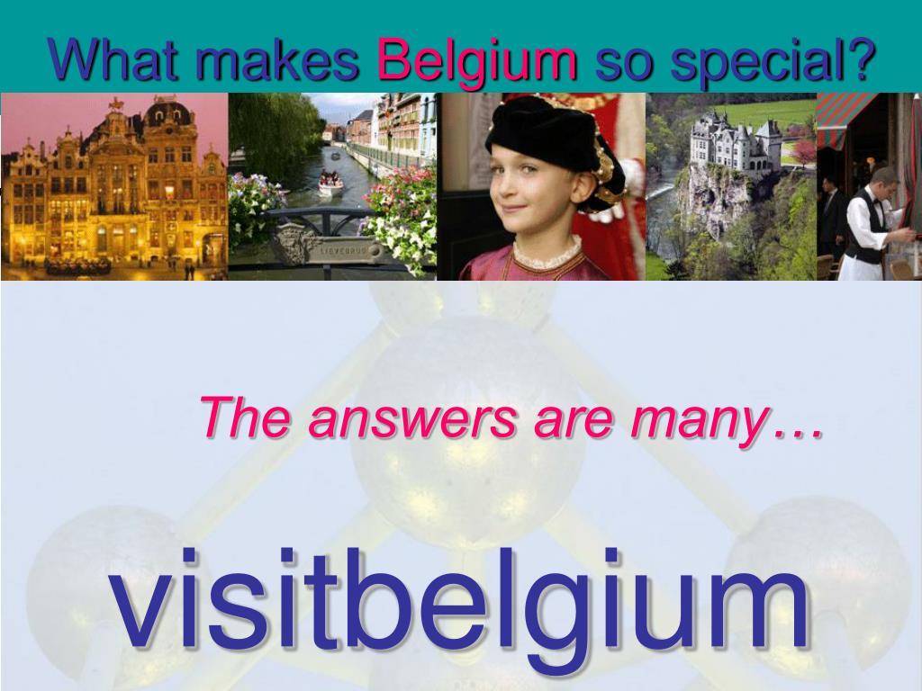 what makes belgium so special l.