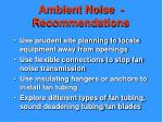 ambient noise recommendations