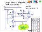 simplified 4 to 1 mux using tgs with enable f z when en 0