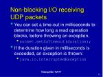 non blocking i o receiving udp packets