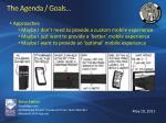 the agenda goals5