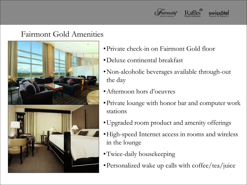 Private check-in on Fairmont Gold floor